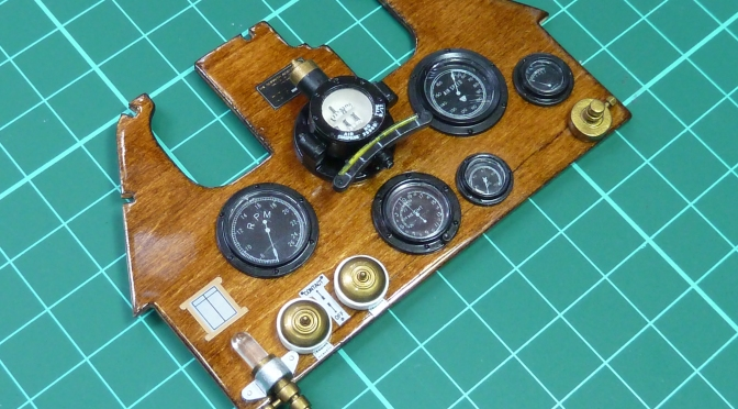 SOPWITH CAMEL F1 – HASEGAWA 1:8 (PART 4): Instrument Panel