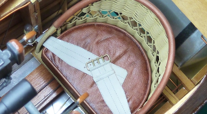 SOPWITH CAMEL F1 – HASEGAWA 1:8 (PART 14) Seat and Coaming
