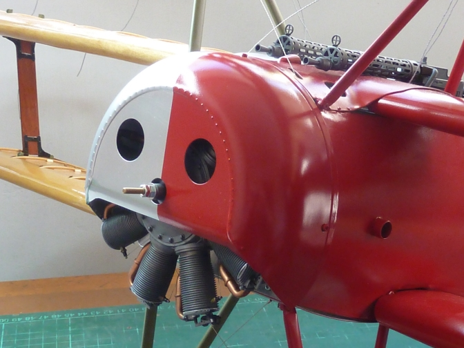 FOKKER DR.1 – HASEGAWA 1:8 (PART 16) Top Wing Covering and Fuselage Tidying Up