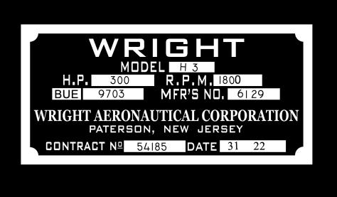 Wright-Martin Nameplate